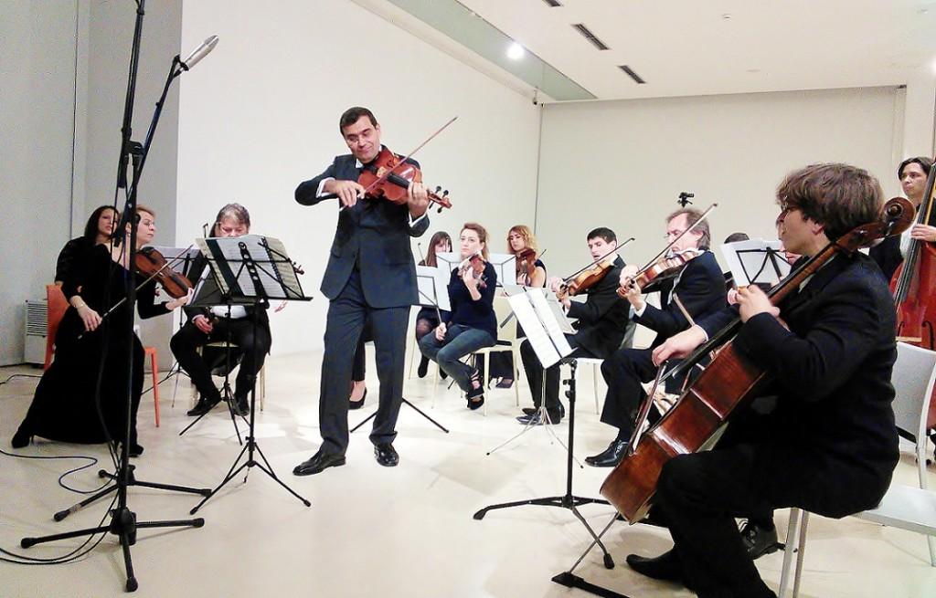 Wladimir Kossjanenko, viola und Die Virtuosen von Split in der Gallerie der bildenden Künste Split 8 Dezember 2013