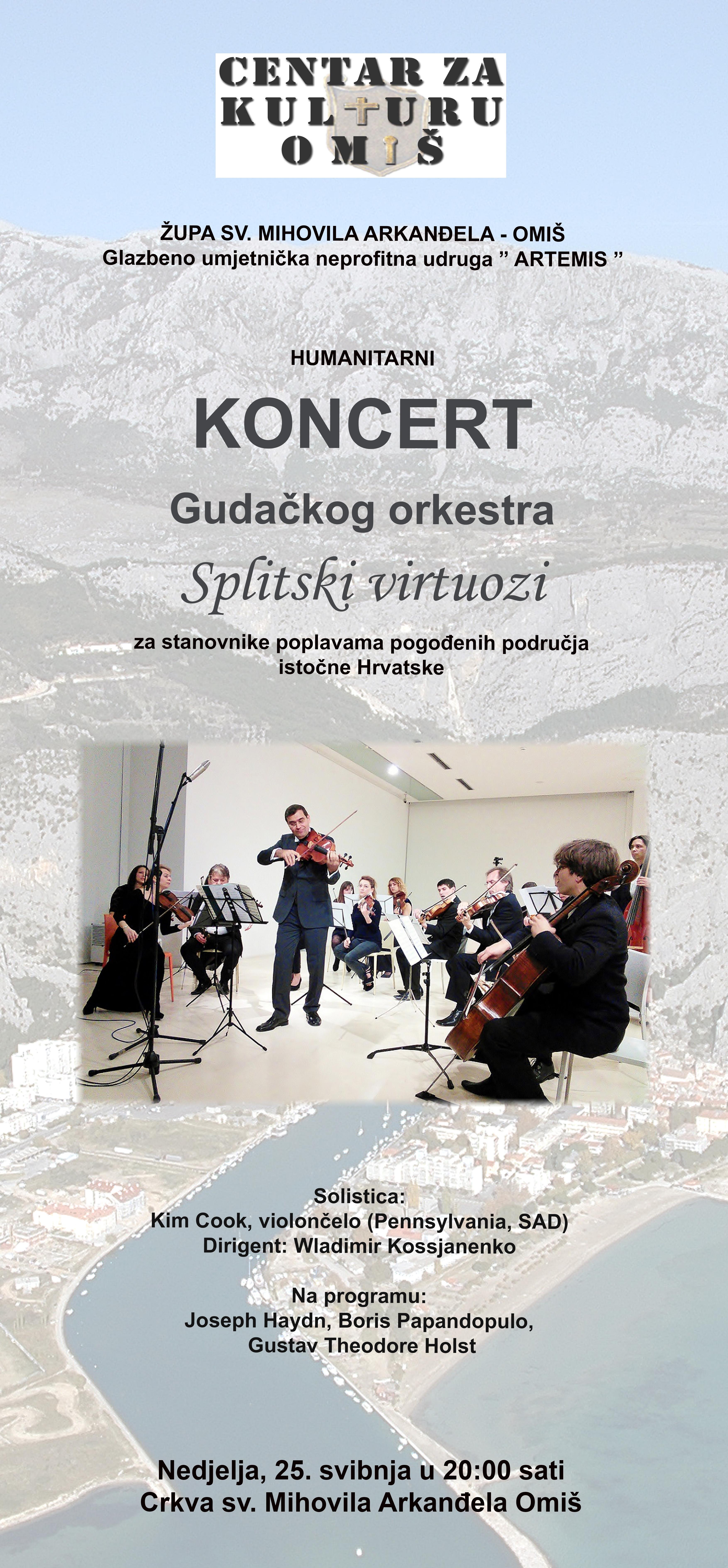 Humanitarni Koncert 20140525 PLAKAT SPLITSKI VIRTUOZI