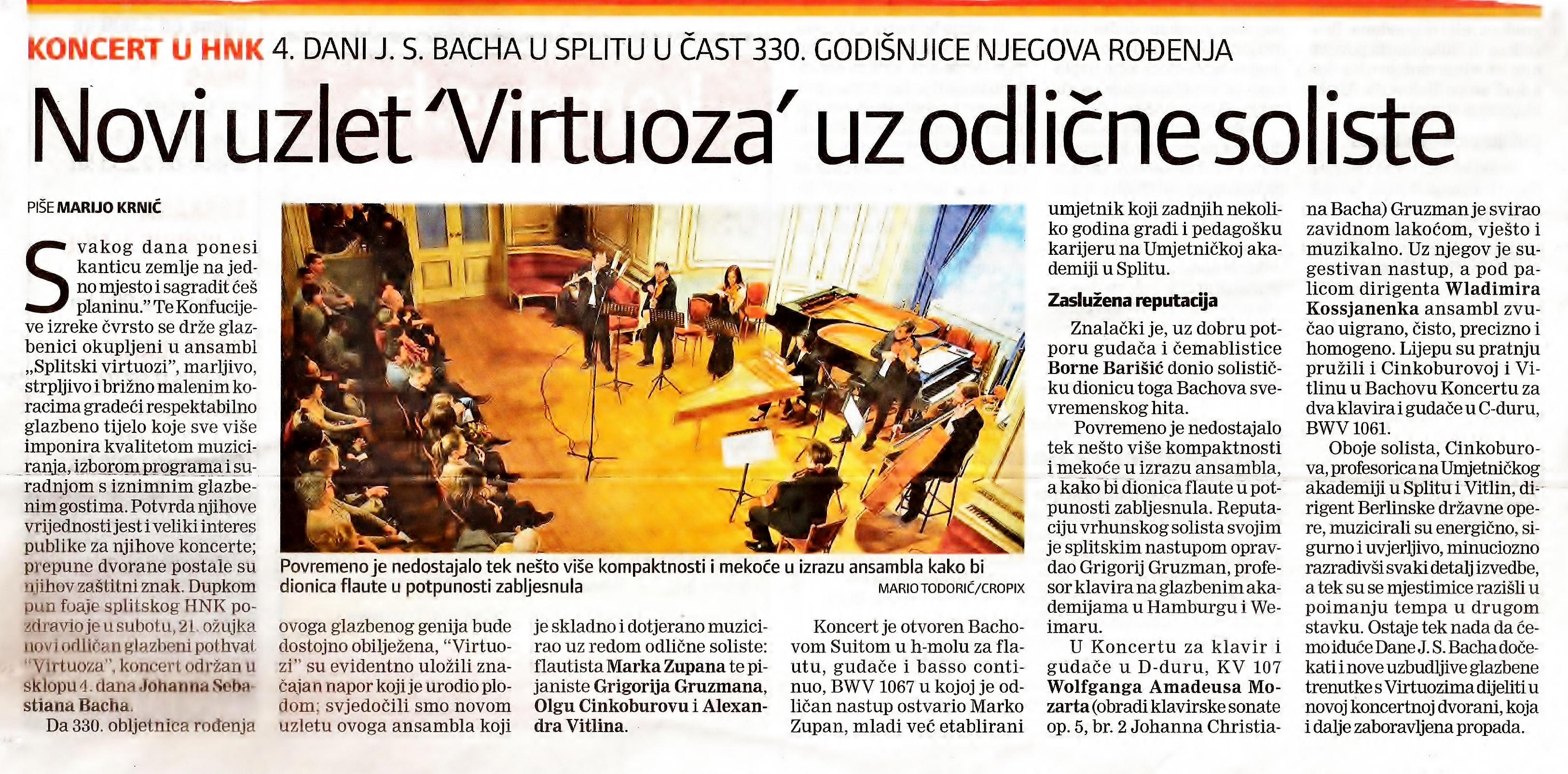 330.obljetnica Bacha Novi uzlet Splitskih virtuoza