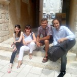 with Mario Hossen, Vesna Podrug and Lilyana Kechayova at the Vitturi Castle