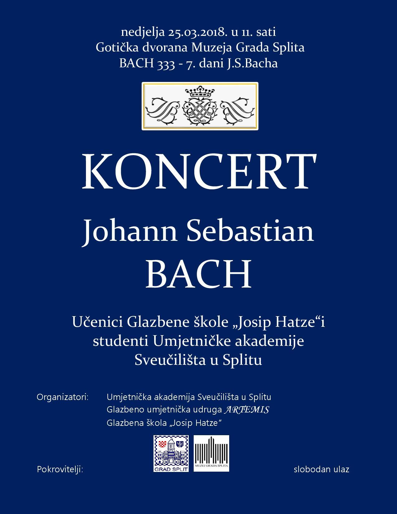 Plakat Muzej Bach 333 - 7 Dani Bacha