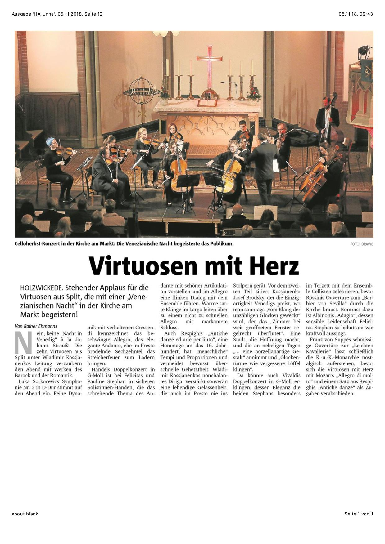 VIRTUOSEN MIT HERZ Rezension Rainer Ehmanns